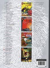 Integrale Ric Hochet T.14 ; Ric Hochet - 4ème de couverture - Format classique