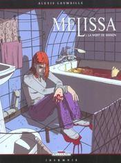Melissa T.1 ; La Mort De Manon - Intérieur - Format classique