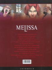 Melissa T.1 ; La Mort De Manon - 4ème de couverture - Format classique