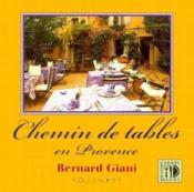 Chemin de tables en Provence - Couverture - Format classique