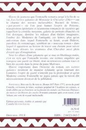 Lettres Galantes De Monsieur Le Chevalier D'Her - 4ème de couverture - Format classique