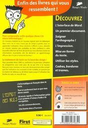 Word 2000 Pour Les Nuls - 4ème de couverture - Format classique