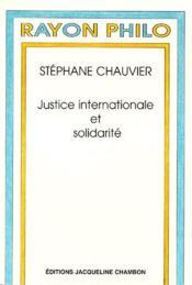 Justice Internationale Et Solidarite - Couverture - Format classique