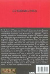 Les diaboliques d'Urcel - 4ème de couverture - Format classique