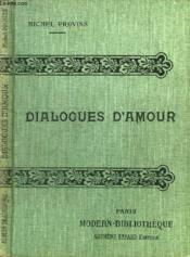 Dialogues D'Amour. - Couverture - Format classique