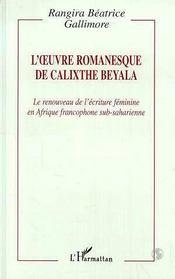 L'Oeuvre Romanesque De Calixthe Beyala - Intérieur - Format classique