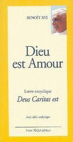 Dieu est amour ; lettre encyclique deus caritas est - Couverture - Format classique