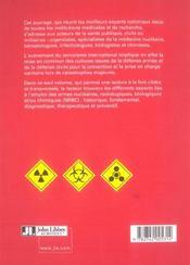 Menace Terroriste Approche Medicale. Nucleaire Radiologique Biologique Chimique - 4ème de couverture - Format classique