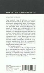 Les Lauriers De Cendre - 4ème de couverture - Format classique
