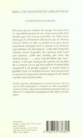 La Mendiante De Shigatze ; Edition 2002 - 4ème de couverture - Format classique