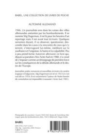 Automne Allemand Babel 652 - 4ème de couverture - Format classique