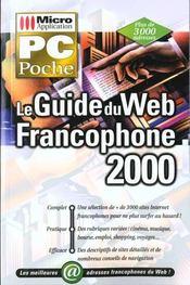 Pc poche le guide du web francophone 2000 - Intérieur - Format classique
