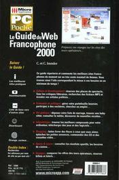Pc poche le guide du web francophone 2000 - 4ème de couverture - Format classique