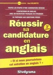 Réussir sa candidature en anglais (3e édition) - Intérieur - Format classique