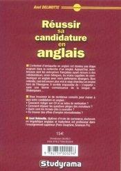 Réussir sa candidature en anglais (3e édition) - 4ème de couverture - Format classique