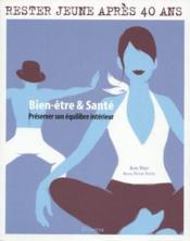 Bien-Etre & Sante. Preserver Son Equilibre Interieur - Couverture - Format classique