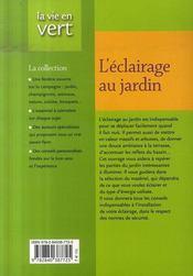 Eclairage Au Jardin - 4ème de couverture - Format classique