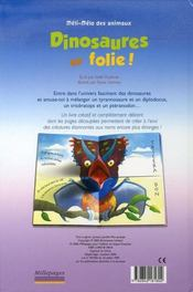 Méli-mélo des animaux ; dinosaures en folie ! - 4ème de couverture - Format classique