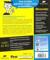 Office Xp Pour Les Nuls - 4ème de couverture - Format classique