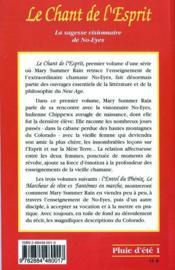 Le Chant De L'Esprit - T. 1 - 4ème de couverture - Format classique