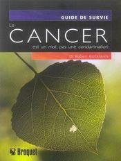 Cancer est un mot, pas une condamnation - Intérieur - Format classique