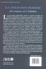 Reflexion Du Maitre Sur Histoire Humanite - 4ème de couverture - Format classique