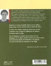 Terrain Glissant - 4ème de couverture - Format classique