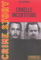 Cruelle incertitude - Intérieur - Format classique