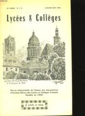 Lycees Et Colleges - 19eme Annee - N° 1-2 - Couverture - Format classique