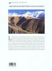 Circuits De Randonnees Dans Les Ecrins - 4ème de couverture - Format classique