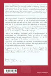 Electronique 2e Annee Mp-Mp*-Pt-Pt* Cours Et Exercices Corriges - 4ème de couverture - Format classique