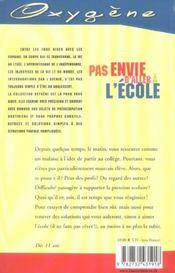 Pas Envie D'Aller A L'Ecole - 4ème de couverture - Format classique