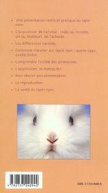 Le lapin nain - 4ème de couverture - Format classique
