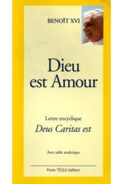 Dieu Est Amour - Deus Caritas Est (Gros Caracteres) - Couverture - Format classique