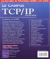 Le Campus Tcp-Ip ; Selection Campus - 4ème de couverture - Format classique
