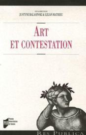Art Et Contestation Sociale - Couverture - Format classique