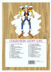 Lucky Luke t.17 ; sur la piste des Dalton - 4ème de couverture - Format classique