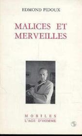 Malices Et Merveilles - Couverture - Format classique