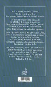 Ophelia, roman d'un naufrage - 4ème de couverture - Format classique