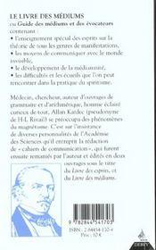 Livre Des Mediums (Le) - 4ème de couverture - Format classique