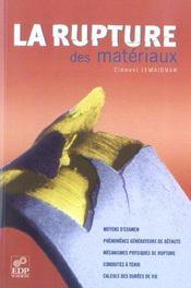 La rupture des matériaux - Intérieur - Format classique