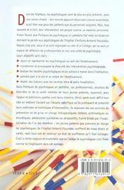 Pratiques De Psychologie.Pediatrie - 4ème de couverture - Format classique