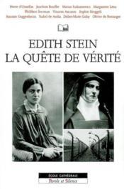Edith Stein La Quete De Verite - Couverture - Format classique