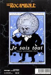 REVUE ROCAMBOLE N.12 ; les éditions Pierre Lafitte (II) - 4ème de couverture - Format classique