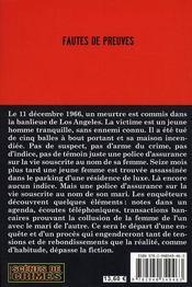 Fautes De Preuves - 4ème de couverture - Format classique