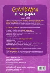 Graphismes et calligraphies ; grande section, CP, CE1 - 4ème de couverture - Format classique
