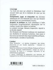 De L'Analyse A La Prevision Cours - 4ème de couverture - Format classique