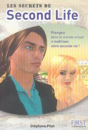 Vente livre :  Les secrets de Second Life  - Stephane Pilet