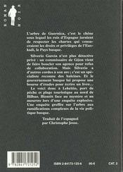 L'arbre de Guernica - 4ème de couverture - Format classique