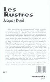 Rustres (Les) - 4ème de couverture - Format classique